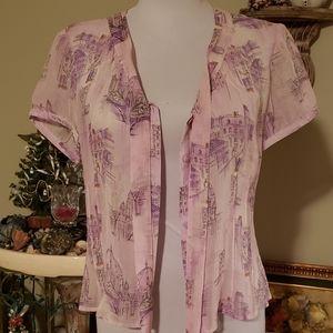 Vtg silk blouse